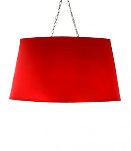 brilliant red oval pendant light